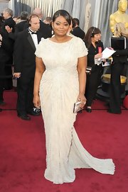 Octavia Spencer was ravishing in a beaded dress complete with a subtle train.