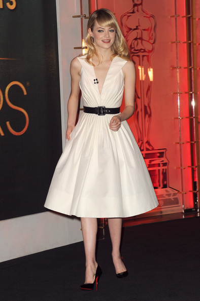 More Pics of Emma Stone Cocktail Dress (3 of 32) - Emma Stone Lookbook - StyleBistro