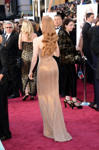 More Pics of Jessica Chastain Strapless Dress (4 of 103) - Strapless Dress Lookbook - StyleBistro