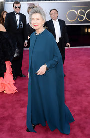 She may have been the oldest nominee at the 2013 Oscars, but Emmanuelle Riva still rocked the red carpet with this long-sleeve flowing gown.