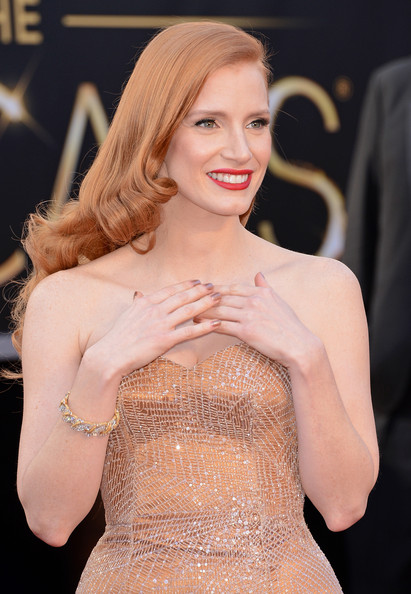 More Pics of Jessica Chastain Neutral Nail Polish (8 of 103) - Nails Lookbook - StyleBistro