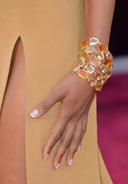 Naomie Harris stunned in gold at the 2013 Oscars with this citrine and diamond bracelet set in 18k yellow gold.