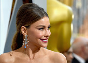 Sofia Vergara went for retro elegance with this teased ponytail at the Oscars.