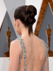 Daisy Ridley attended the Oscars rocking an intricately twisted bun.
