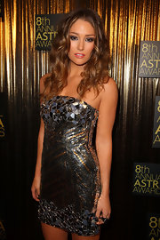 Erin showed off her strapless dress while hitting the Astra Awards.