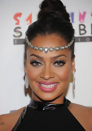 La La Anthony wore a bejweled hair band across her forehead with her dramatic updo to create a regal look for the Keep a Child Alive Black Ball.