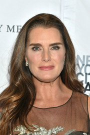 Brooke Shields wore her hair down in a gently wavy style at the 2019 New York City Ballet Fall Fashion Gala.