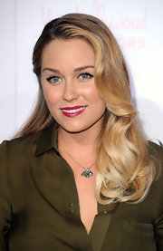 Lauren Conrad showed off her soft berry lips and signature lined eyes while attending the Teen Vogue Young Hollywood party.