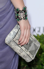 Emma rocked a emerald green and diamond bangle bracelet at the Teen Vogue Young Hollywood party.