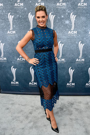 Kendra Scott looked lovely in a sheer blue and black dress by Self-Portrait at the ACM Honors.