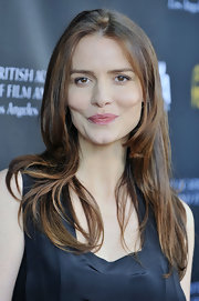 Saffron Burrows opted for a simple straight 'do at the BAFTA Los Angeles Tea Party.