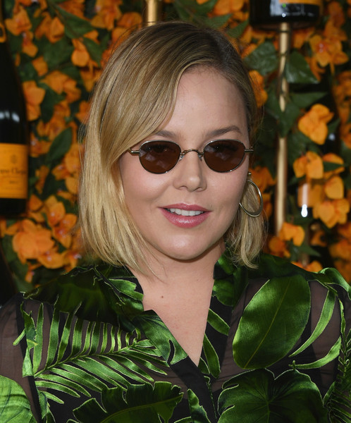 Abbie Cornish opted for a simple side-parted bob when she attended the Veuve Clicquot Polo Classic Los Angeles.