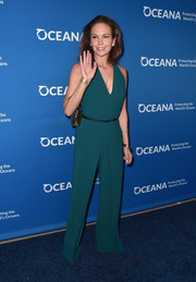 Diane Lane made an appearance at the Concert for Our Oceans wearing a plunging green jumpsuit.