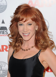 Kathy Griffin wore her hair in big bouncy curls with soft wispy bangs at the 11th Annual Movies for Grownups awards gala.
