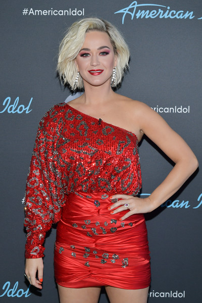 More Pics of Katy Perry One Shoulder Dress (4 of 6) - Dresses & Skirts Lookbook - StyleBistro [american idol,clothing,shoulder,red,beauty,dress,cocktail dress,fashion,lady,joint,hairstyle,arrivals,katy perry,taping,california,los angeles,abc]
