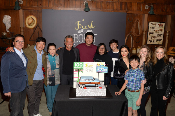 More Pics of Constance Wu Pumps (2 of 18) - Constance Wu Lookbook - StyleBistro [episode,event,organ,team,technology,electronic device,ray wise,lucille soong,karey burke,randall park,hudson yang,chelsey crisp,fresh off the boat,abc celebrates,celebration]