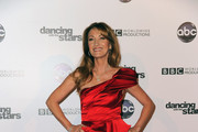 Jane Seymour Wears a Luminous Red Cocktail Dress