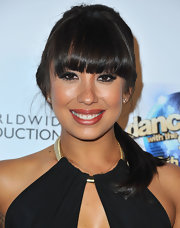 Cheryl Burke chose a classic ponytail for her look at the 'Dancing With the Star' 300th Episode party.