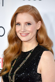 Jessica Chastain looked stunning with her Old Hollywood waves at the AFI FEST closing night gala.
