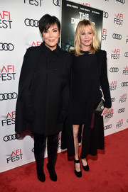 Kris Jenner was winter-chic in a black wool cape at the AFI FEST screening of 'The Disaster Artist.'