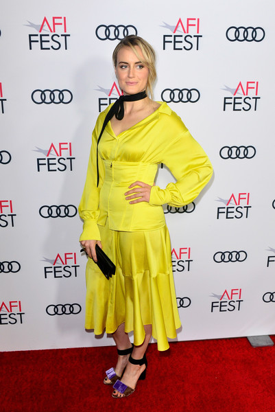 More Pics of Taylor Schilling Satin Clutch (1 of 5) - Clutches Lookbook - StyleBistro [yellow,red carpet,clothing,carpet,flooring,premiere,fashion,outerwear,footwear,fashion design,filmmakers,taylor schilling,california,hollywood,tcl chinese 6 theatres,afi fest,festival filmmakers 3,audi,audi - festival]
