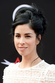 Sarah Silverman opted for a stylish but casual messy updo for her look at the AFI Life Achievement Gala.