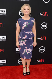 Amy Poehler's pretty floral frock featured a playful peplum detail for a touch of flirt!