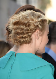 Amanda Michalka nailed the messy, twisted updo at the premiere of 'Blue Jasmin.'