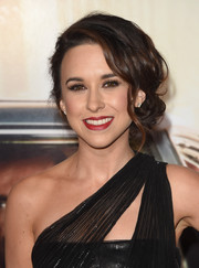 Lacey Chabert attended the Black & Red Ball looking glam with this side chignon.