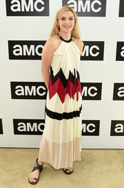 Rhea Seehorn styled her dress with a pair of grommeted sandals.