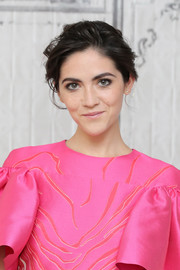 Isabelle Fuhrman pulled her hair back into a messy updo for the AOL Build Speaker Series.
