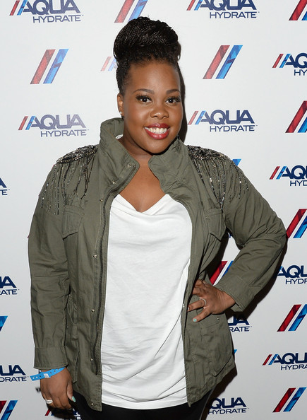 More Pics of Amber Riley Braided Bun (1 of 8) - Updos Lookbook - StyleBistro