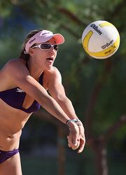 Kerri Walsh's sunglasses keep her game-ready.
