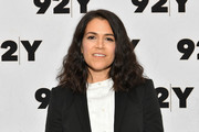 Abbi Jacobson sported casual shoulder-length waves while attending an event at 92nd Street Y.