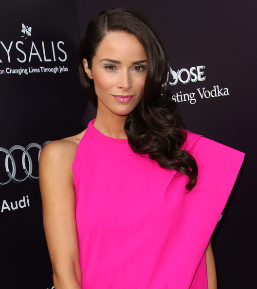 Abigail Spencer Long Curls [hair,shoulder,pink,clothing,hairstyle,neck,beauty,eyebrow,skin,dress,arrivals,abigail spencer,los angeles,california,chrysalis butterfly ball]