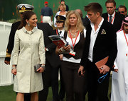 Princess Victoria looked truly royal in an ivory coat with subtle texture.