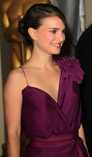 Natalie Portman showed off her elegant bun while attending the Second Annual Governors Awards.