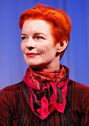 Sandy Powell kept it casual with this boy cut at the New York screening of 'The Wolf of Wall Street.'