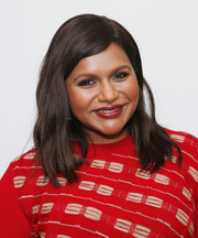 Mindy Kaling looked lovely with her subtle waves at the official Academy screening of 'Late Night.'