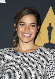 America Ferrera styled her hair into a feathery ponytail for the Academy screening of 'Real Women Have Curves.'