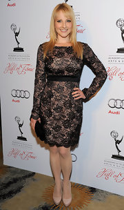 Melissa Rauch wore this long-sleeve lace number to the Television Arts & Sciences' Hall of Fame Gala.