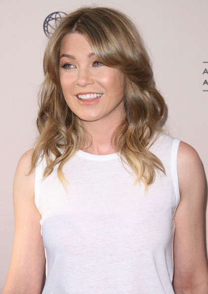 More Pics of Ellen Pompeo Long Wavy Cut (1 of 22) - Ellen Pompeo Lookbook - StyleBistro