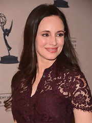 Madeleine Stowe kept her look sophisticated and mature with long waves at the 'Revenge' event.