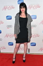 Pauley Perrette opted for a classic little black dress while making and appearance at the Academy of Arts & Science Hall of Fame Induction Gala.