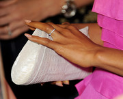 Kerry Washington accessorized with a stylish white crocodile clutch when she attended the Emmy nominees celebration.