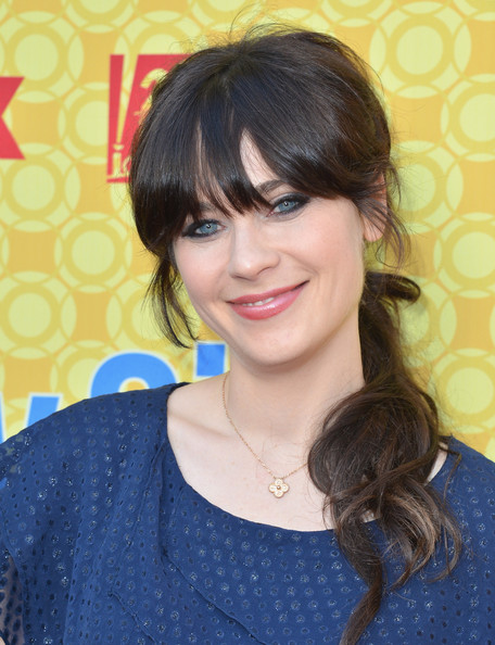 Zooey Deschanel's Cool Chestnut