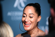 Tracee Ellis Ross swept her hair back into a braided bun for the 2018 ACE Awards.