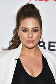 Ashley Graham brushed her hair back into a high ponytail (and put the spotlight on that gorgeous face!) for the #ActuallySheCan Short Film Series release.