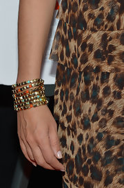 Hoda Kotb's cool beaded bracelets were a funky touch to the star's evening look.