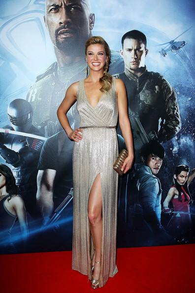 Adrianne Palicki Evening Dress